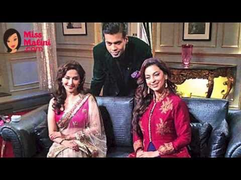 Madhuri Dixit & Juhi Chawla Reveal SECRETS on Koffee with Karan 23rd February 2014