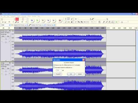 Audacity Volume Control