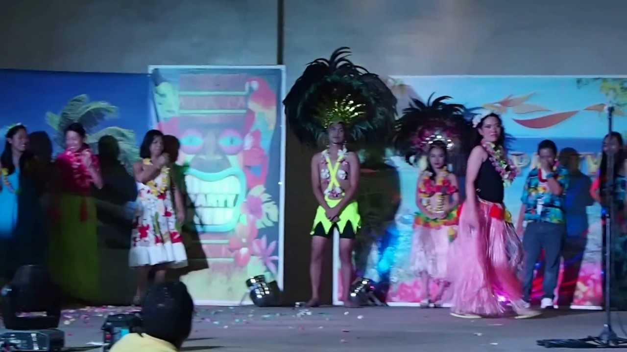Fashion Show for Best Hawaiian Costume - YouTube