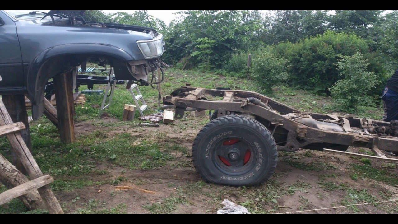 Замена рамы на Toyota 4 runer