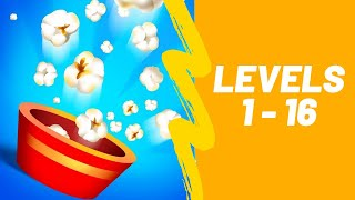 Popcorn Burst Game 3 Stars Walkthrough Level 1-16