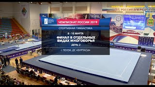 Чемпионат России 2019. Финалы в отдельных видах. 2 день.