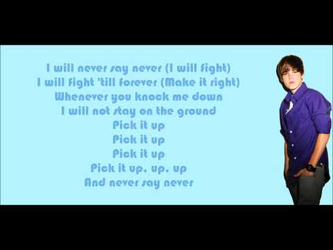 Justin Bieber - Never Say Never (feat. Jaden Smith) Lyrics Video