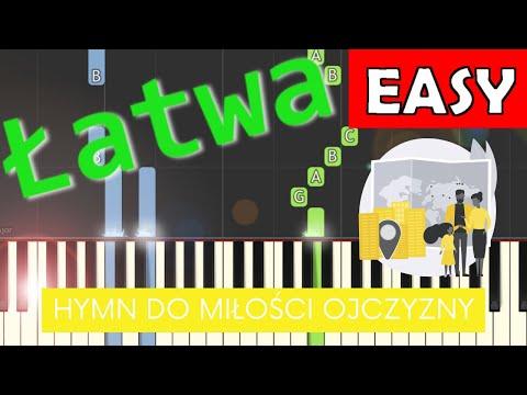 🎹 Hymn do miłości ojczyzny - Piano Tutorial (łatwa wersja) 🎹