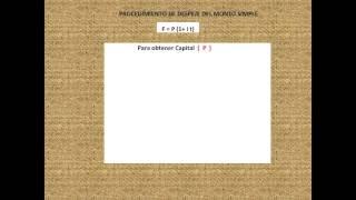 Procedimiento de despeje del interés simple / Procedimiento de despeje del monto simple/