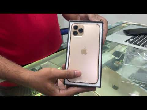 Apple IPhone 11 Pro Gold Unboxing In India