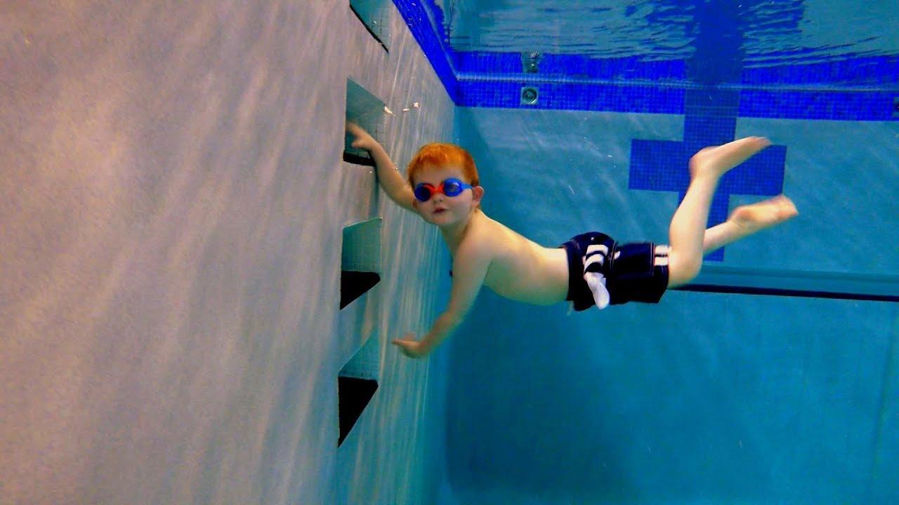 Practice Swimming In Deep Water Youtube