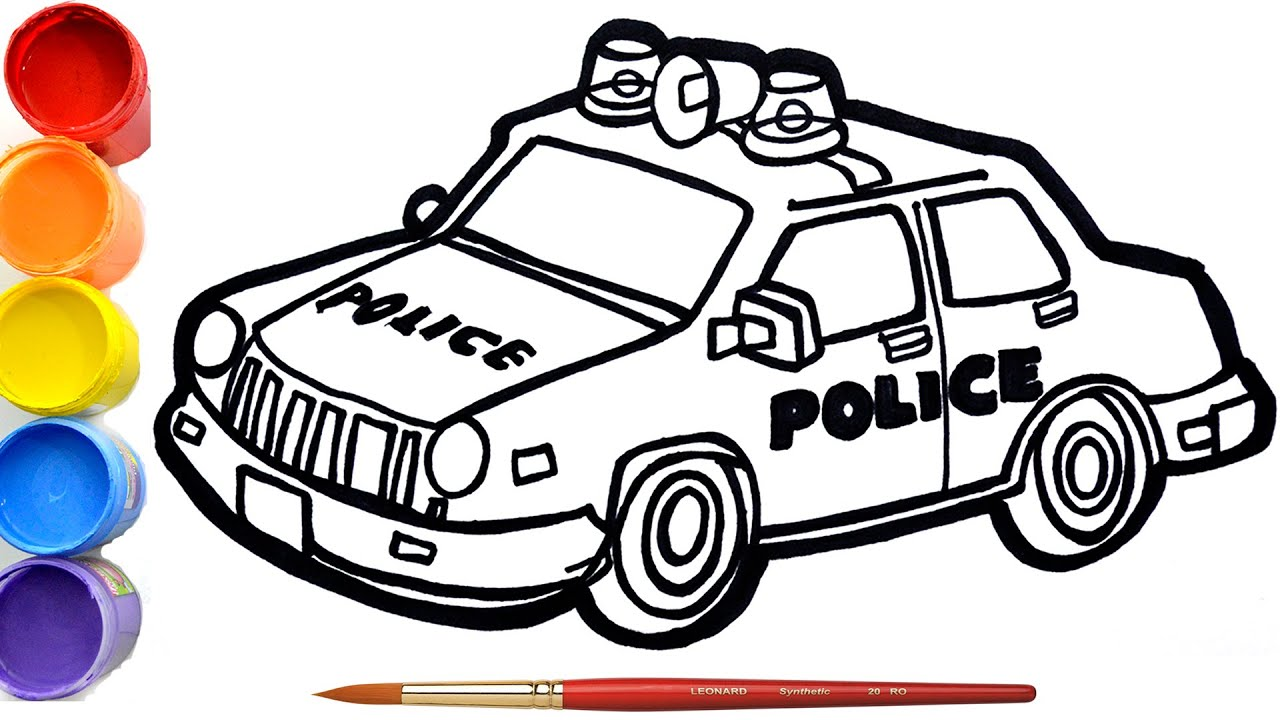 contoh mewarnai gambar pak polisi gambar mewarnai