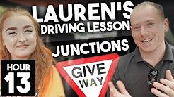T Junctions Driving Lesson w/ Lauren hr 13