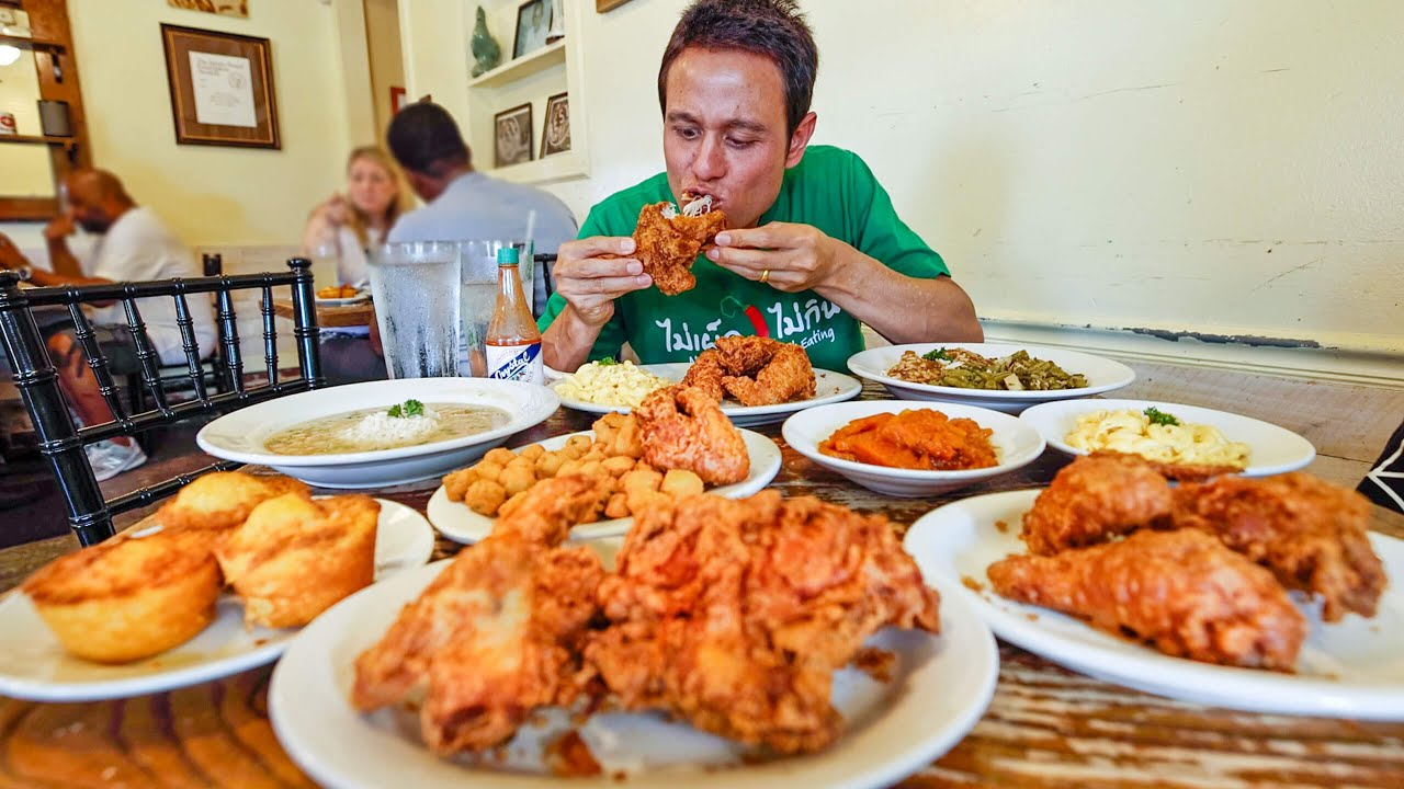 Download The Best FRIED CHICKEN in America!! 🍗 Soul Food at Willie Mae's in New Orleans!