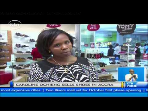 Daring Abroad: Story of a Kenyan who makes a living from selling shoes in Accra Ghana