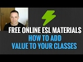 Free Online English Teacher Materials, Make the Most Money Teaching Abroad in ESL