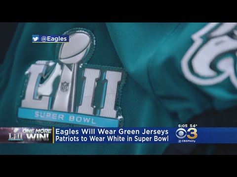 huge selection of c4f1d dff6d Eagles To Don Midnight Green Super Bowl LII Jerseys Versus Patriots