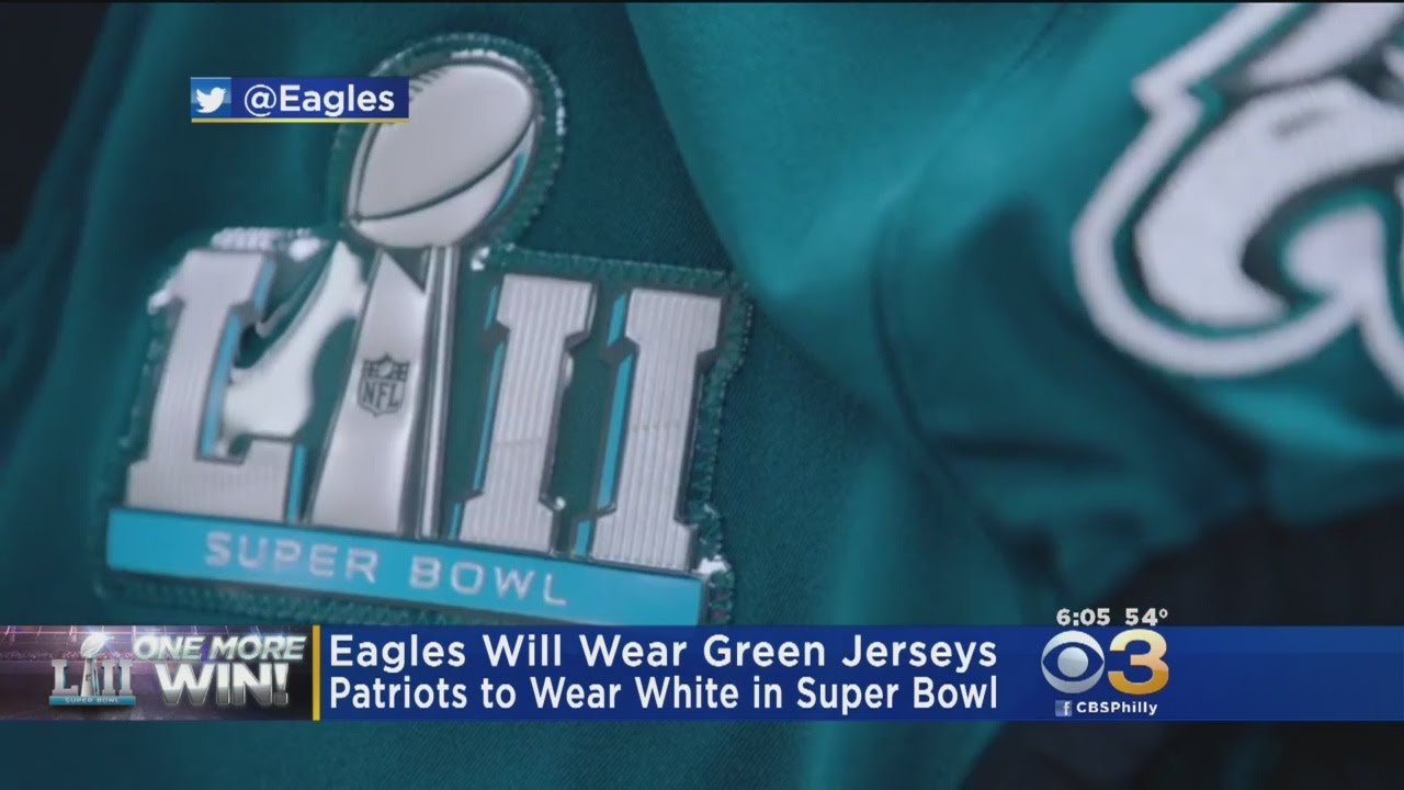huge selection of 22bc7 dde7a Eagles To Don Midnight Green Super Bowl LII Jerseys Versus Patriots
