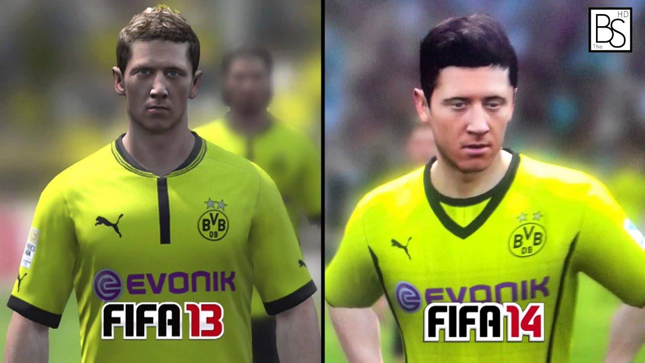 Fifa 13 vs fifa 14 fifa 14 new faces youtube voltagebd Images