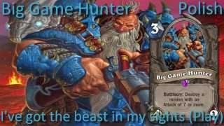 Big Game Hunter card sounds in 12 languages -Hearthstone✔