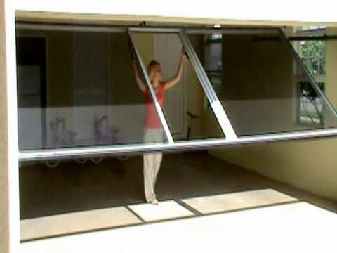 Live the lifestyle lifestyle screens garage screen www for Pull down fly screen for doors