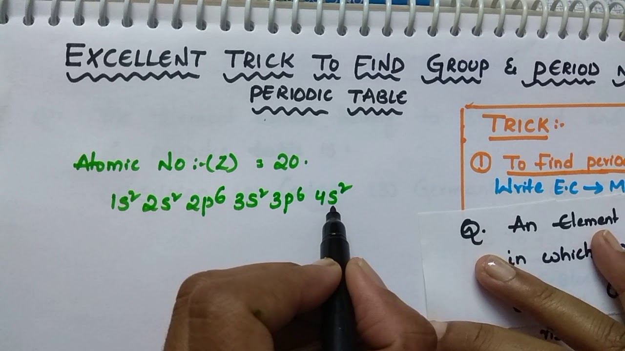 Trick To Find Group Number And Period Number In Periodic Table Periodic Table Tricks Class 12 Chem