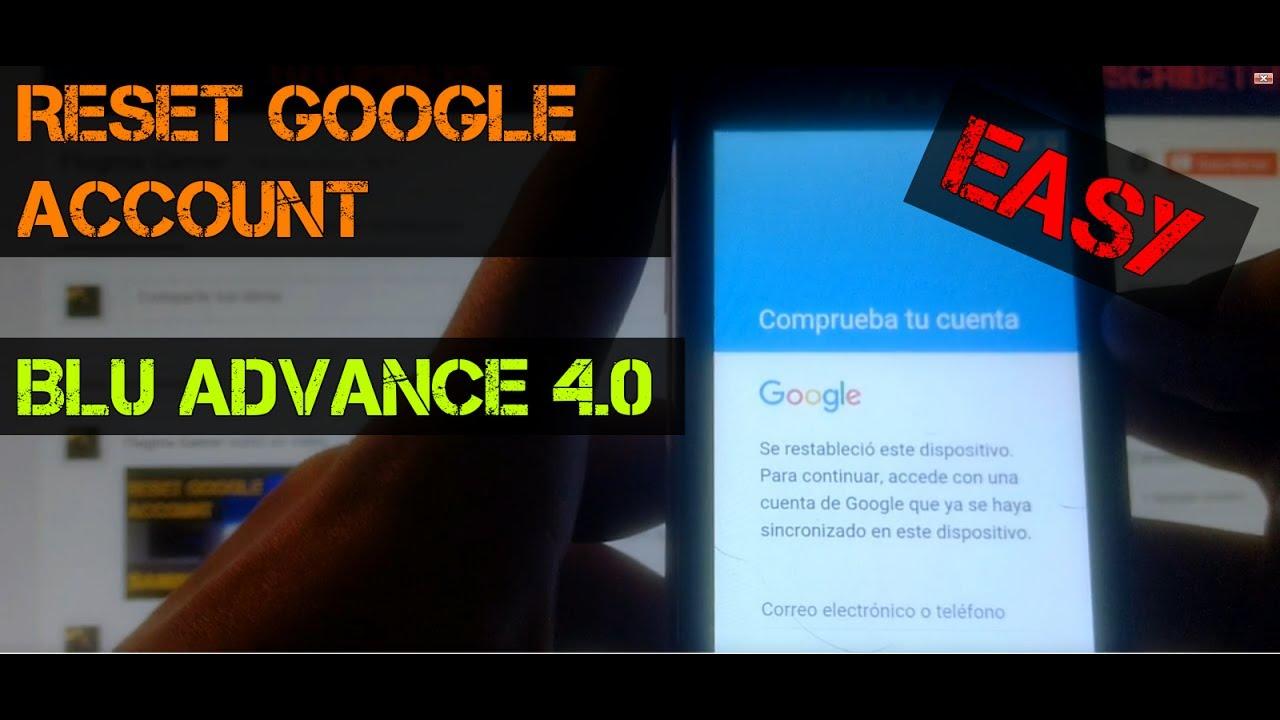 Blu advance l4 a350a bypass google frp - updated September 2019