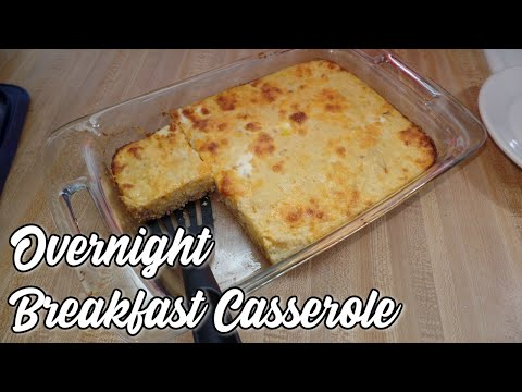 Overnight Breakfast Casserole || What's For Breakfast Christmas Morning