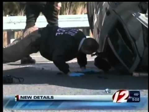 Rhode Island State Trooper Rollover