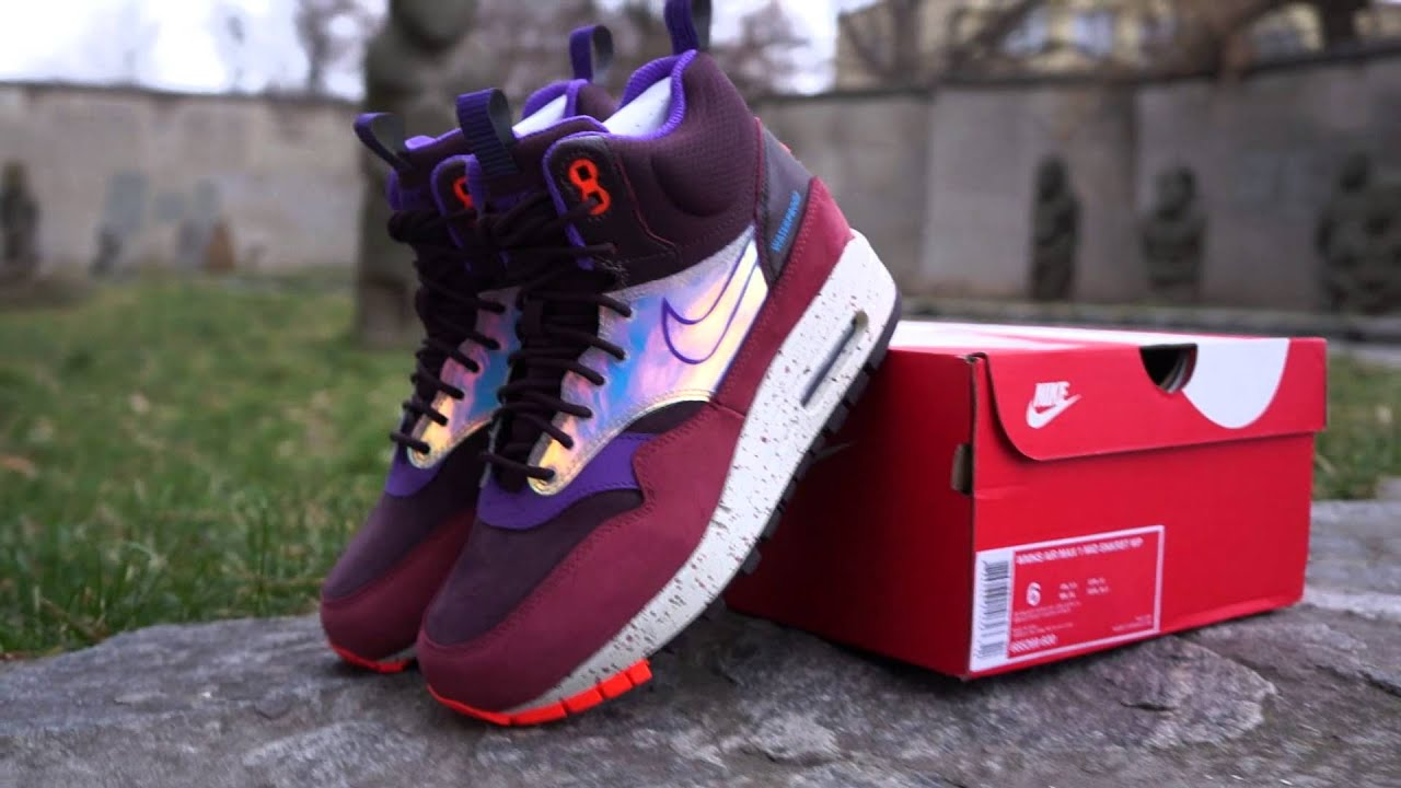 da9e7a0d9a Nike Air Max 1 Mid Sneakerboot - YouTube