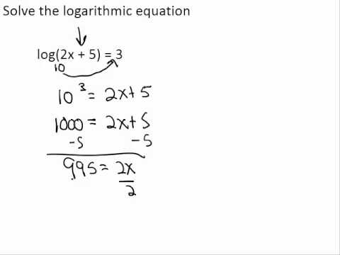 Natural Log To Get Rid Of Exponents