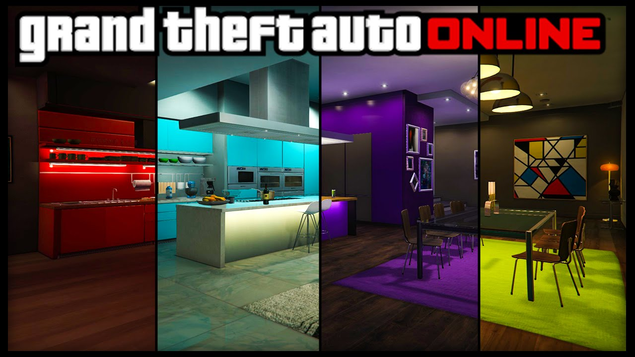 GTA 5 Online ALL NEW APARTMENT CUSTOMIZATION! 8 Different ...