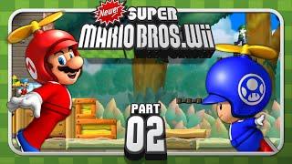 Newer Super Mario Bros. Wii - 4-Player - World 1 (2/2)