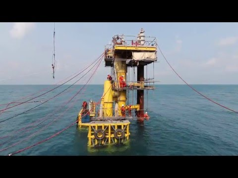 How to Install Offshore Platform (Survace platform, Submarine pipeline with Diver And ROV)