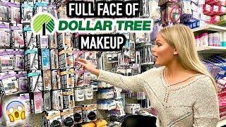 FULL FACE OF DOLLAR TREE MAKEUP | $1 MAKEUP DEALS OMG