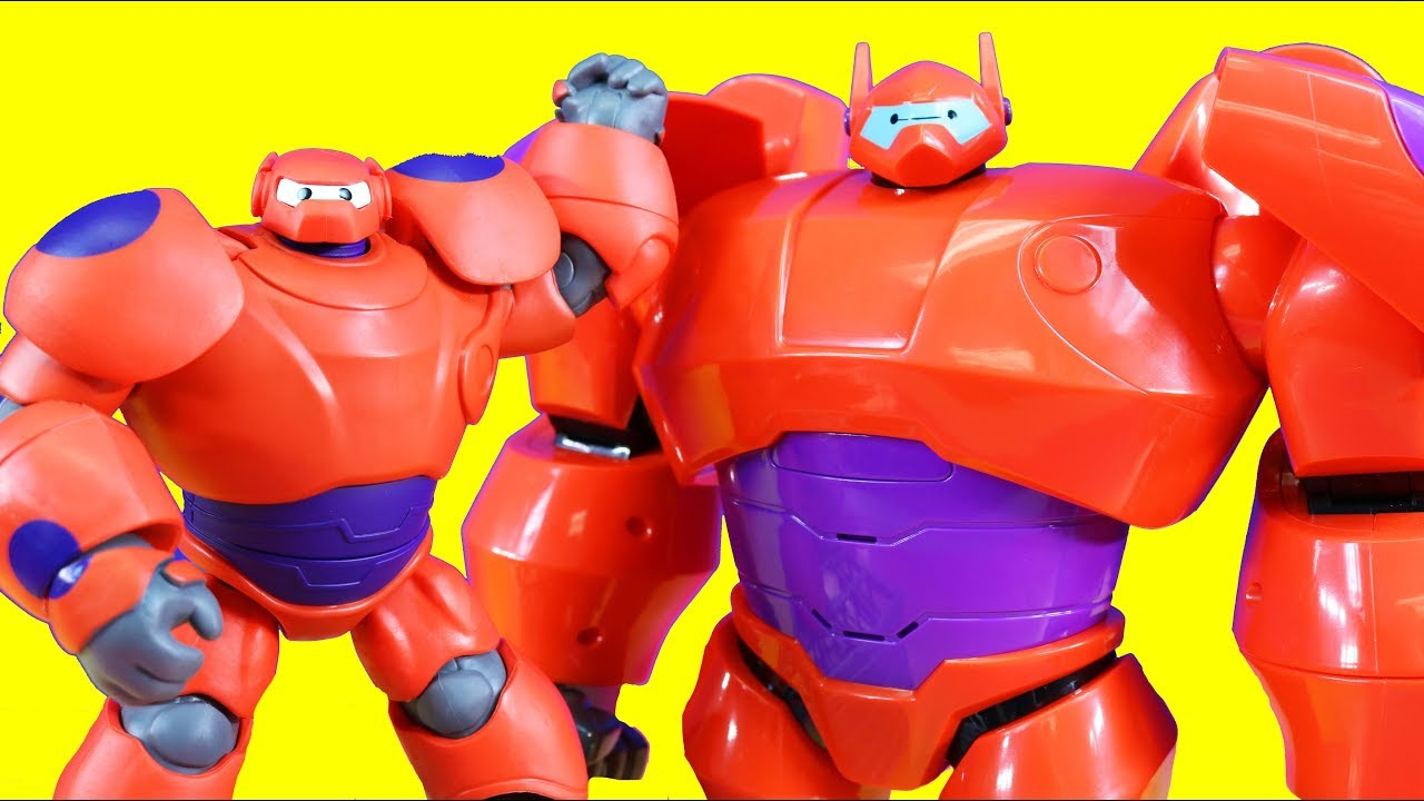 Disney Big Hero 6 The Series Baymax Collection Toy Video Baymax Helps Ben 10 Youtube