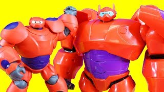 Disney Big Hero 6 The Series Baymax Collection Toy Video + Baymax Helps Ben 10