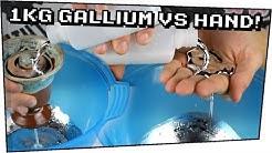 1KG GALLIUM auf der HAND! / Flüssiges Metall mit dem man sicher spielen kann - Techtastisch #74