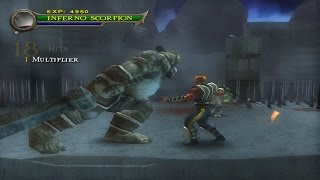Mortal Kombat Shaolin Monks - Play as Inferno Scorpion vs Oni Warlord