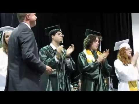 The Grafton High Class of 2014 receive their diplomas