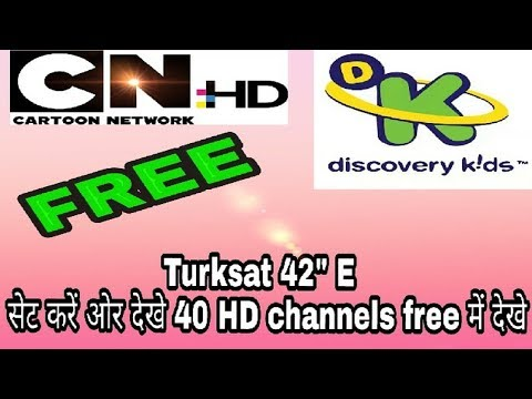Turksat 3A @ 42e DISH SETTING | Watch 40 Free Channels In India