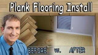 Floating Laminate Wood Plank Flooring Installation