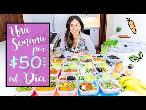 UNA SEMANA COMIENDO POR 50 PESOS (Vegano+Facil)