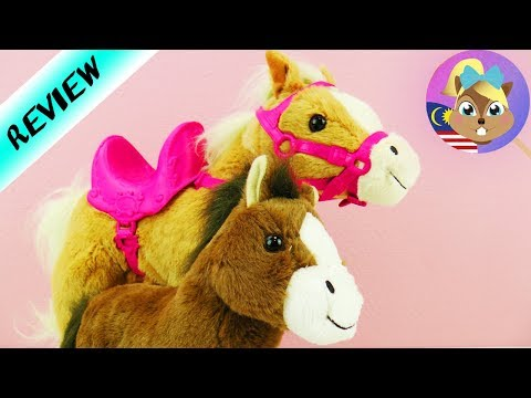 BABY BORN KUDA MAMA Sunny dan ANAK KUDA   Mak kuda lari sama-sama dengan anak   Review