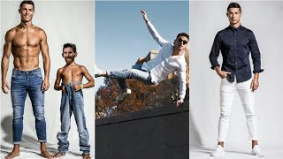 Cristiano Ronaldo glamorous trending denim outfits best collection