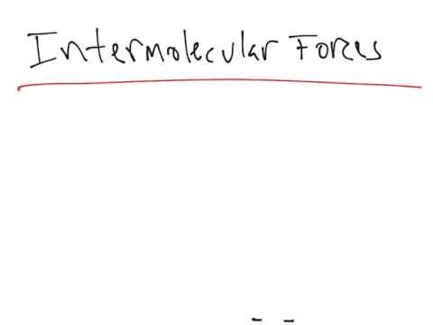 Intramolecular Forces vs. Intermolecular Forces