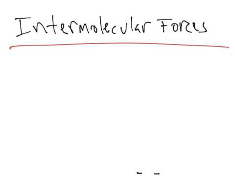 Intramolecular Forces vs. Intermolecular Forces