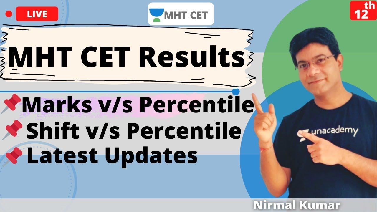 MHT CET 2020 Results | Marks vs Percentile | Shift vs Percentile | Marks vs Shift vs Percentile