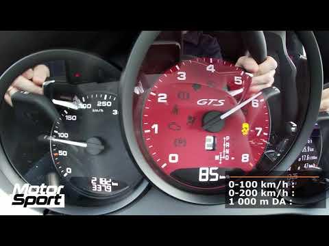 Porsche Boxster 718 GTS : 0-250 km/h