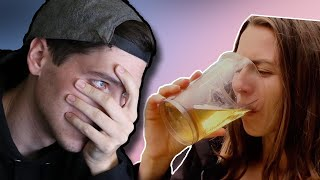 Disgusting Lady Drinks Her Own Urine?