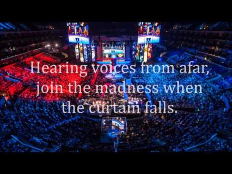 Worlds Collide 2015 World Championship lyrics on screen