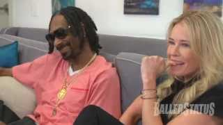 Funny! Chelsea Handler smokes weed with Snoop Dogg, snacks on dog food.