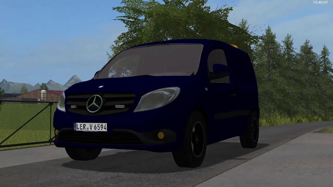 FS17 Mercedes Citan 108 CDI lampen test - YouTube