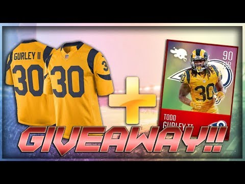 COLOR RUSH TODD GURLEY JERSEY GIVEAWAY!! THANK YOU SO MUCH!!
